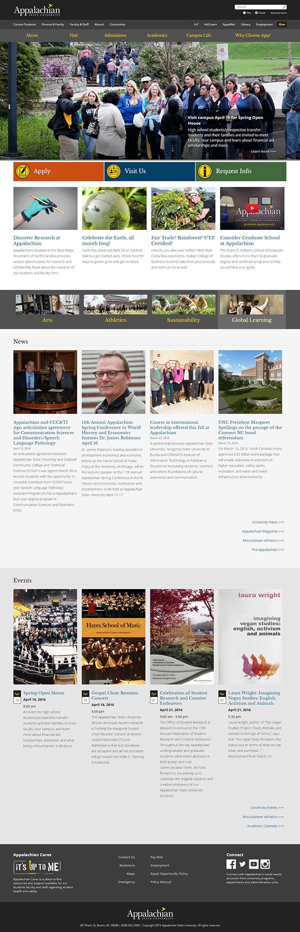 Appalachian State Homepage Redesign