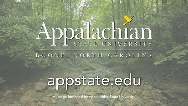 Sustainability is part of who we are - Appalachian State University Institutional Ad 2015